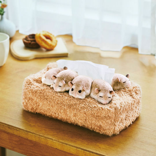 Sleeping Hamsters Tissue Box Cover