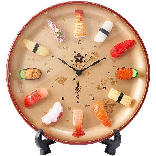 Gold Foil Sushi Clock