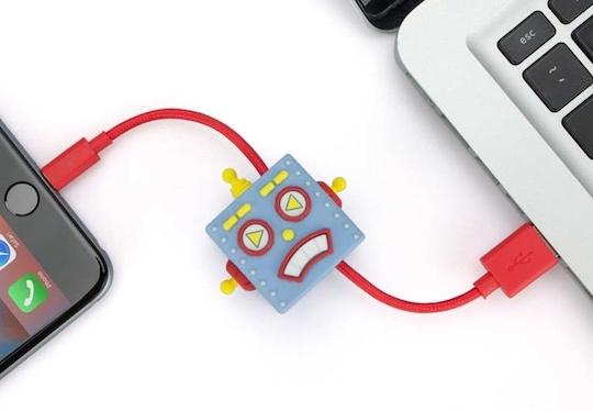 Japanese Retro Robot Lightning Cable