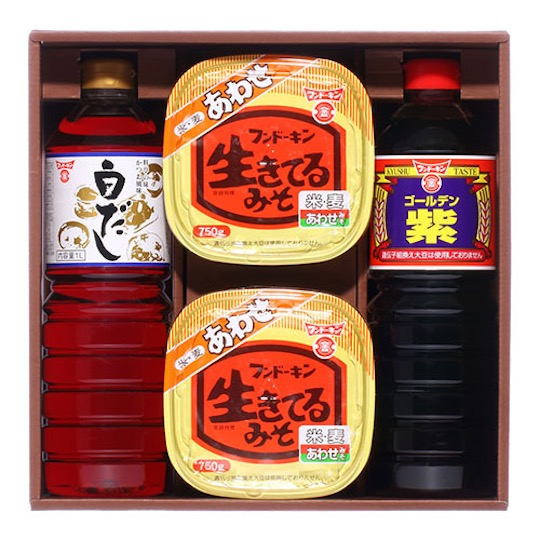 Fundokin Ultimate Japanese Taste Dashi, Soy Sauce, Miso Set