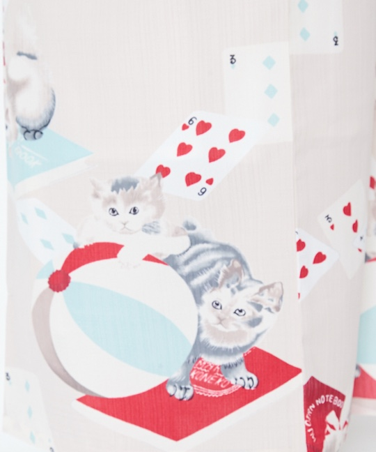 Playing Cards and Cats Design Yukata