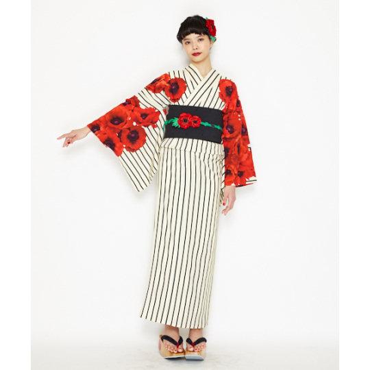 Japan Trend Shop | Retro Modern Anemone Yukata
