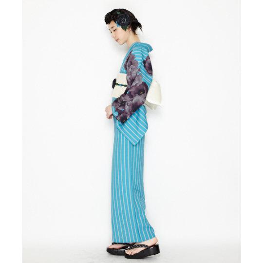 Retro Modern Anemone Yukata