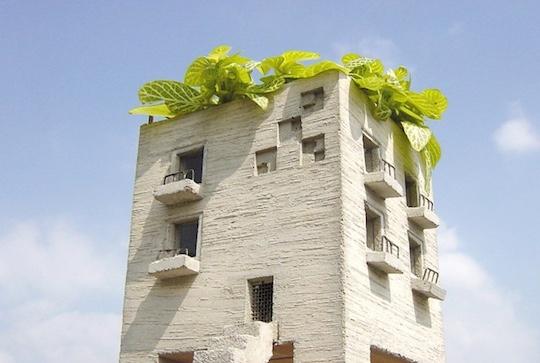 Mansion Planter Condominium Tower Flower Pot