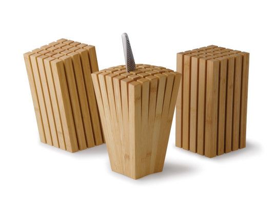 Split Bamboo Knife Block