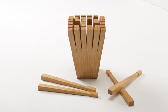 Split Bamboo Knife Block