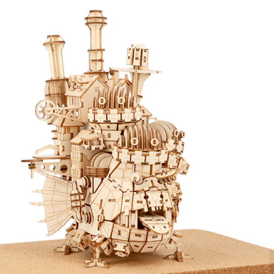 Ki-Gu-Mi Howls Moving Castle Wooden Model Kit