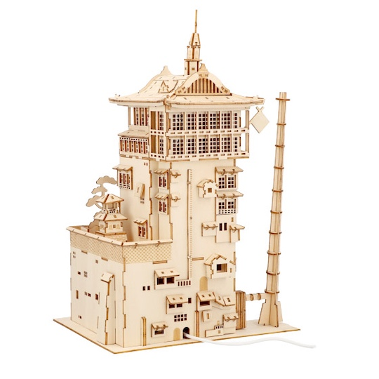Ki-Gu-Mi Spirited Away Bathhouse Wooden Model Kit