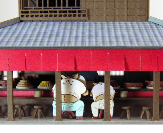 Studio Ghibli Spirited Away Pig Restaurant Paper Craft Kit