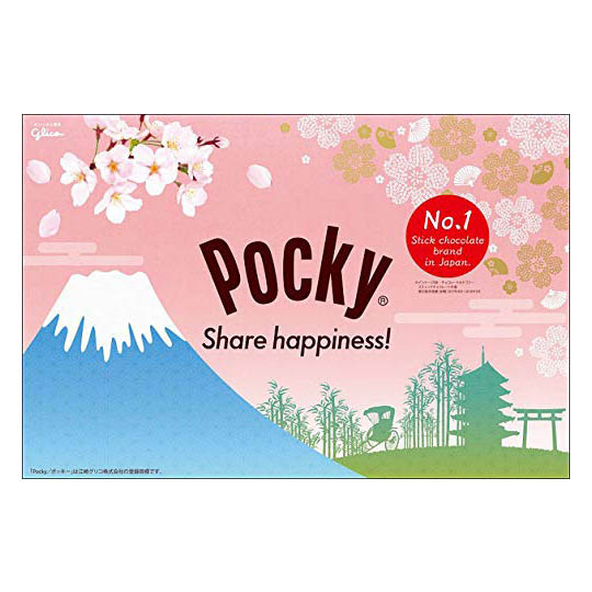 Glico Pocky Sakura Matcha (4 Pack of 9 Bags)