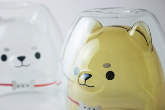 Shiba Inu Dog Sculpture Glass