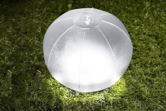 Japan Trend Shop | Green House Beach Ball Inflatable Waterproof LED Solar Lantern