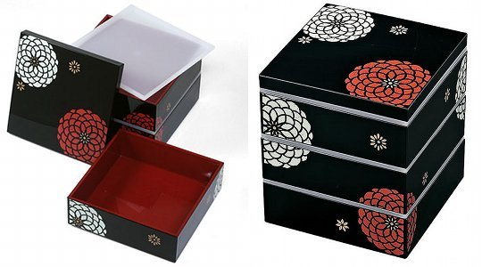 japan trend shop three tier japanese hyakka bento lunch box. Black Bedroom Furniture Sets. Home Design Ideas