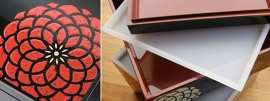 Three-Tier Japanese Hyakka Bento Lunch Box