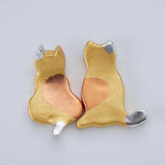 Cat Couple Gold Leaf Chopstick Rests