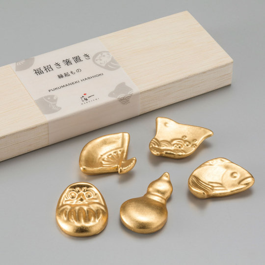 Good Fortune Gold Leaf Chopstick Rests