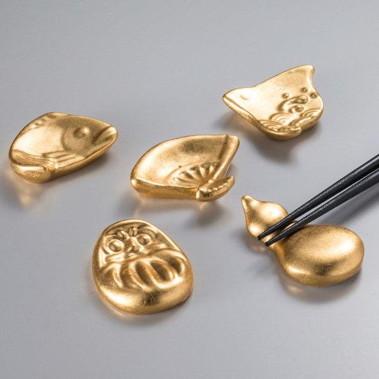 Good Fortune Gold Leaf Chopstick Rests