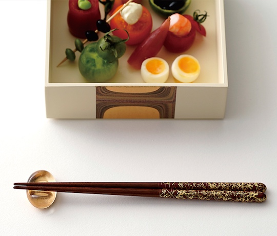Husband and Wife Gold Leaf Chopsticks Luxury Gift