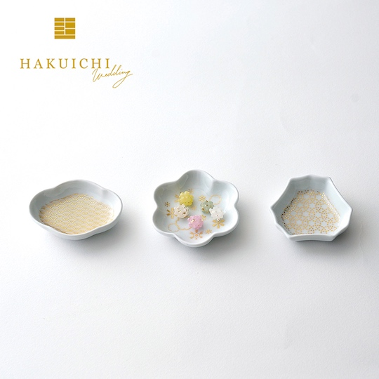 Hakuichi Gold Leaf Mamezara Plate and Konpeito Gift Set