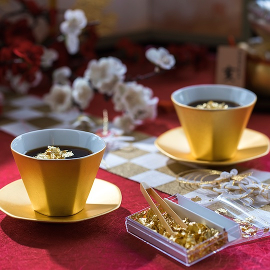 Hakuichi Gold Teacup Set