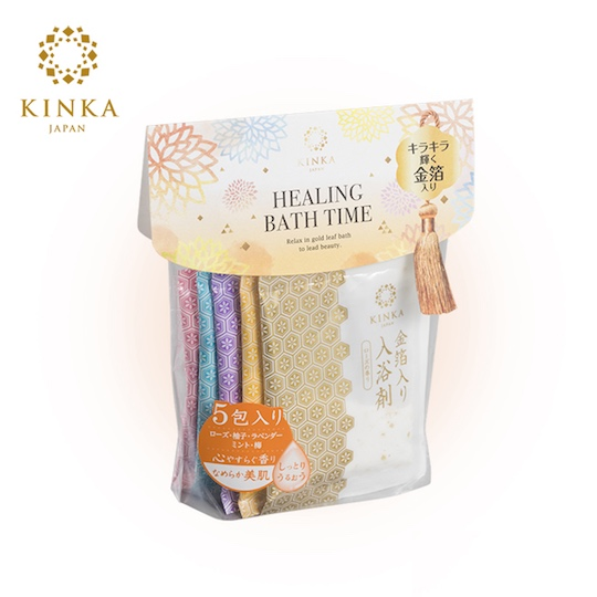 Kinka Gold Leaf Bath Salts (5 Pack)