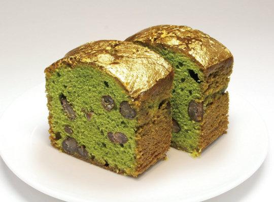 matcha cake azuki