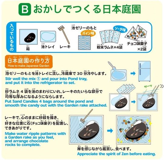 DIY Candy Japanese Zen Garden Kits
