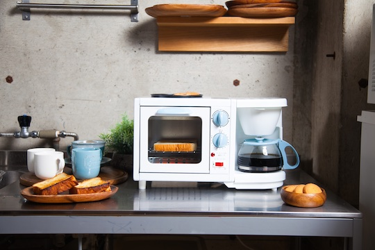 Three-in-One Breakfast Station Coffee Maker, Toaster, Griddle