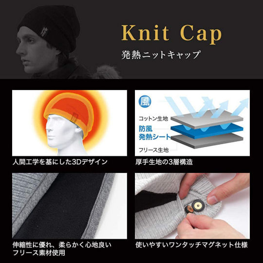 Real Heat Cap and Neck Warmer