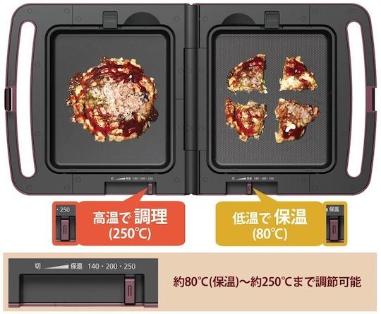Double Hot Plate Grill for Takoyaki, Okonomiyaki