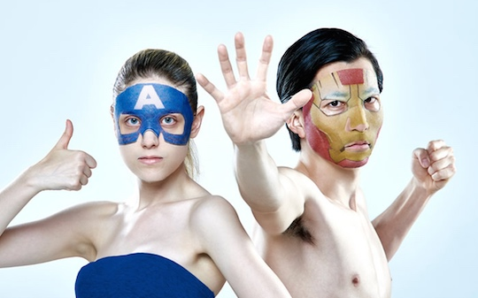 Marvel Iron Man, Captain America Face Packs