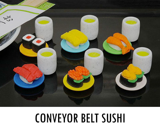 Yummy Japanese Food Erasers (Pack of 60)