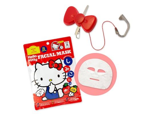Hello Kitty Face Mask Facial Massager Set