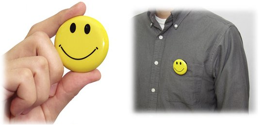 Chobi Cam Smile Smiley Pin Button Camera