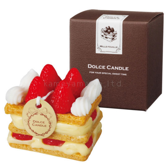 Kameyama Dolce Candle Strawberry Mille-Feuille