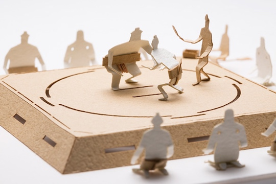 Sumo Wrestling Model by Terada Mokei
