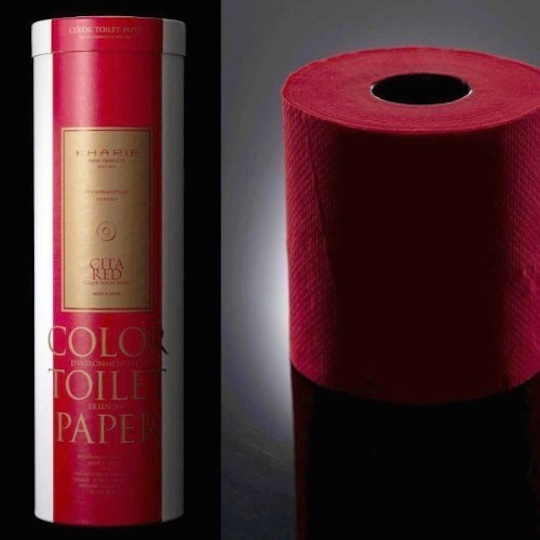 Kharie Red and Black Luxury Colored Toilet Paper (Six Pack)