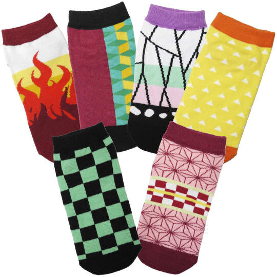 Demon Slayer: Kimetsu no Yaiba Children's Socks (6 Pack)