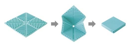 Orishiki Fold-up Silicone Kitchen Mat Set