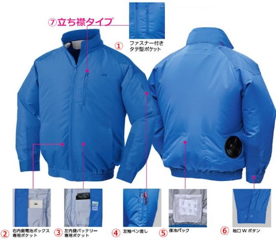 Kuchofuku Nsp Outdoor Air Conditioned Cooling Coat Japan Trend Shop