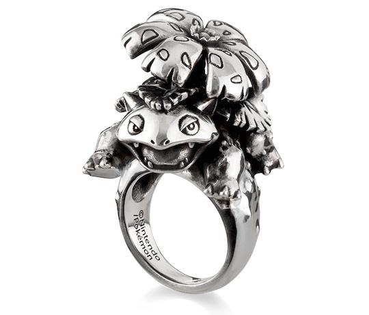 Silver Pokemon Rings Venusaur, Charizard, Blastoise