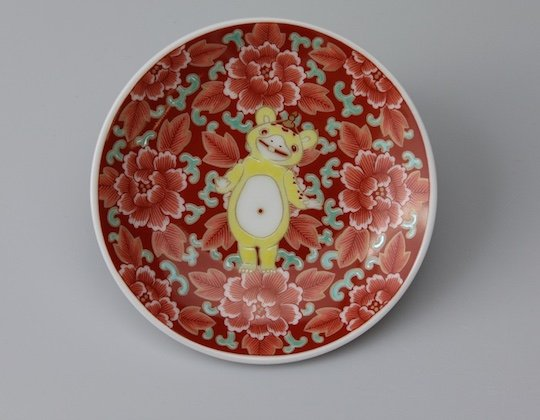 Ultraman Kutani Pottery Plates Set