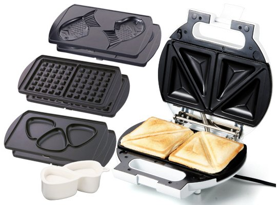 mighty sando plus one taiyaki sandwich toaster japan trend shop. Black Bedroom Furniture Sets. Home Design Ideas
