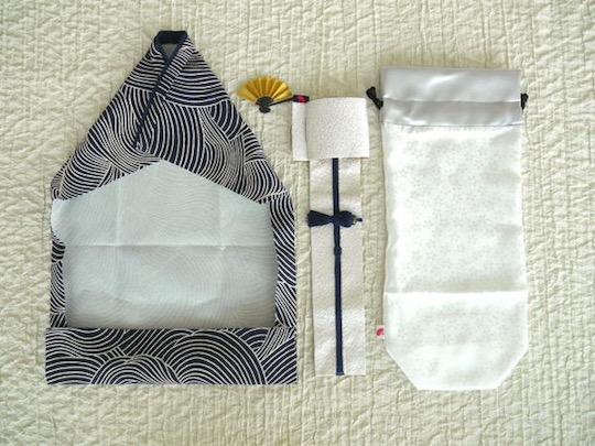 Kimono Wine Bottle Cover Modern Waves
