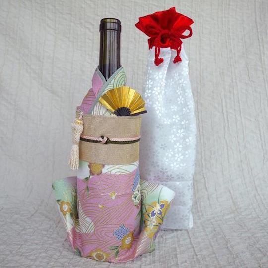 Kimono Wine Bottle Cover Kinsai