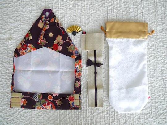 Kimono Wine Bottle Cover Temari