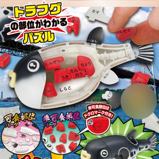 3D Fugu Japanese Blowfish Dissection Puzzle