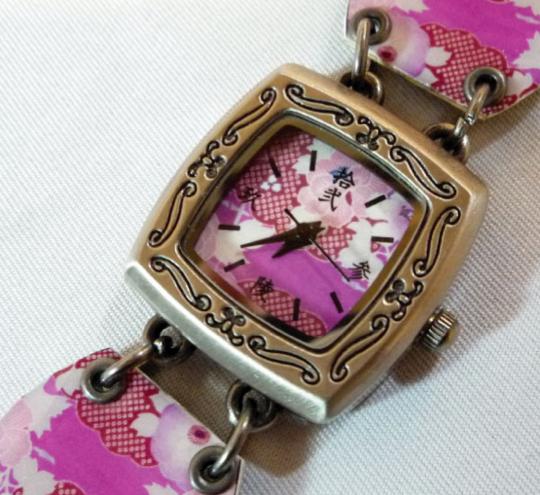 Japanese Floral Watch Bracelet
