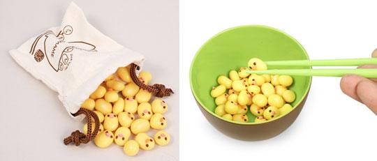 Manner Beans Essstäbchen Spiel