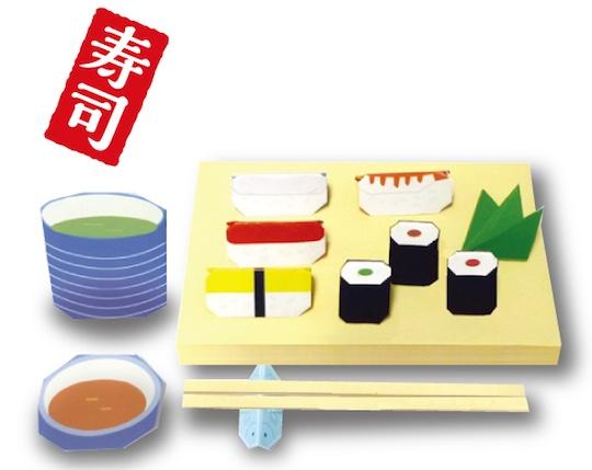 Designer Origami Sushi and Waribashi Chopsticks Set